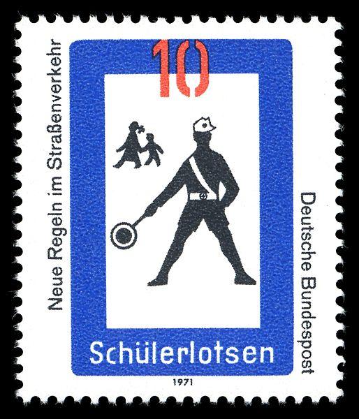 Briefmarke 10 Pfennig Motiv Schülerlotsen